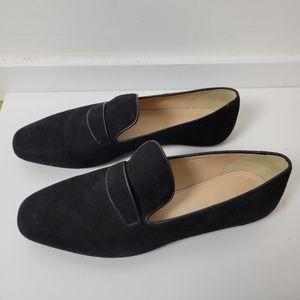J. Crew Black Velvet Loafers Size 10